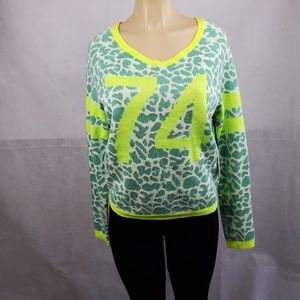 Juicy Couture Green Yellow Bright Lines Size M
